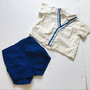 "Other - Vintage toddler boy ""60s"" matching shirt and short"